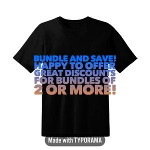 Bundle, bundle, bundle! Save, save, save!